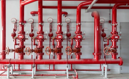 Rör för tryckändamål i röd färg